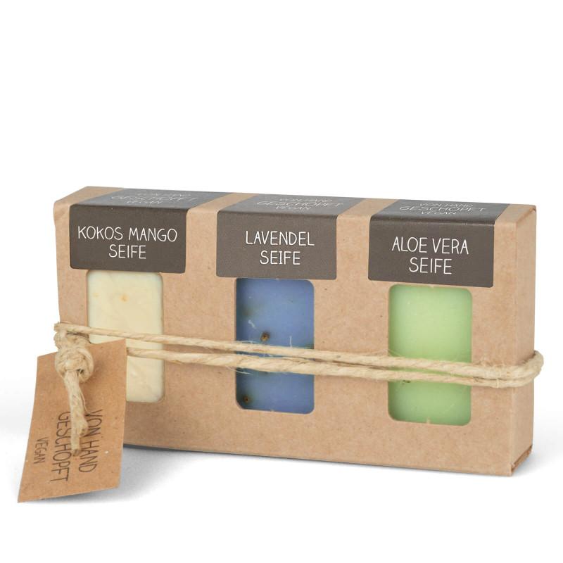 Mini-Seifen 3er-Set (3 x 25 g = 75 g Seife)