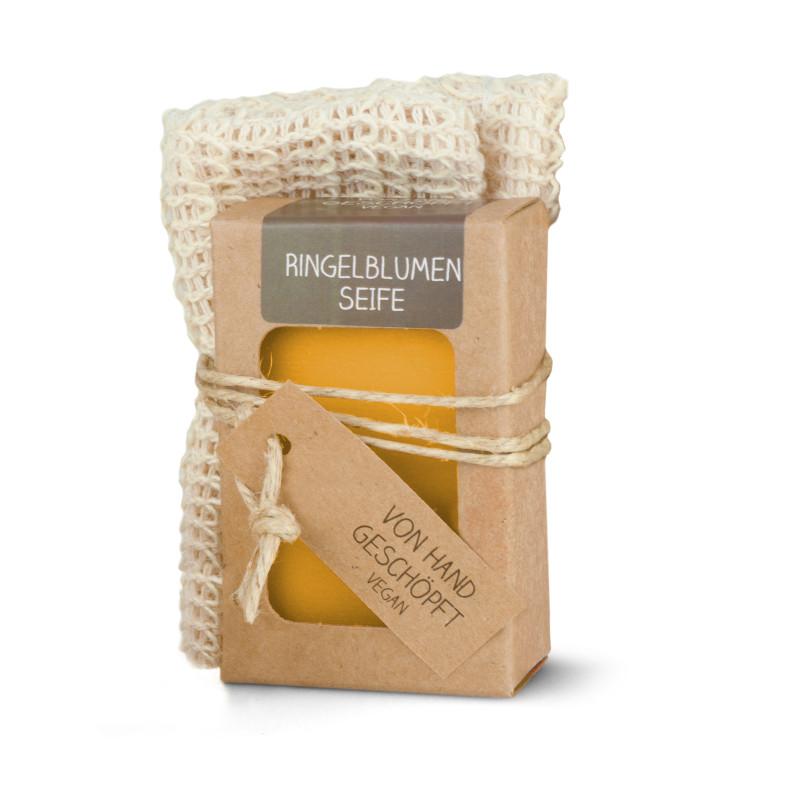 Sisal-Seifensäckchen mit 100 g Seife