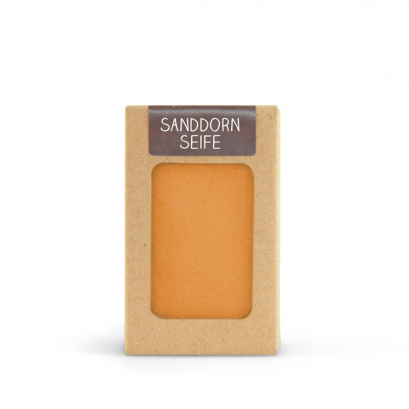 Sanddorn Seife 100g handgeschöpft