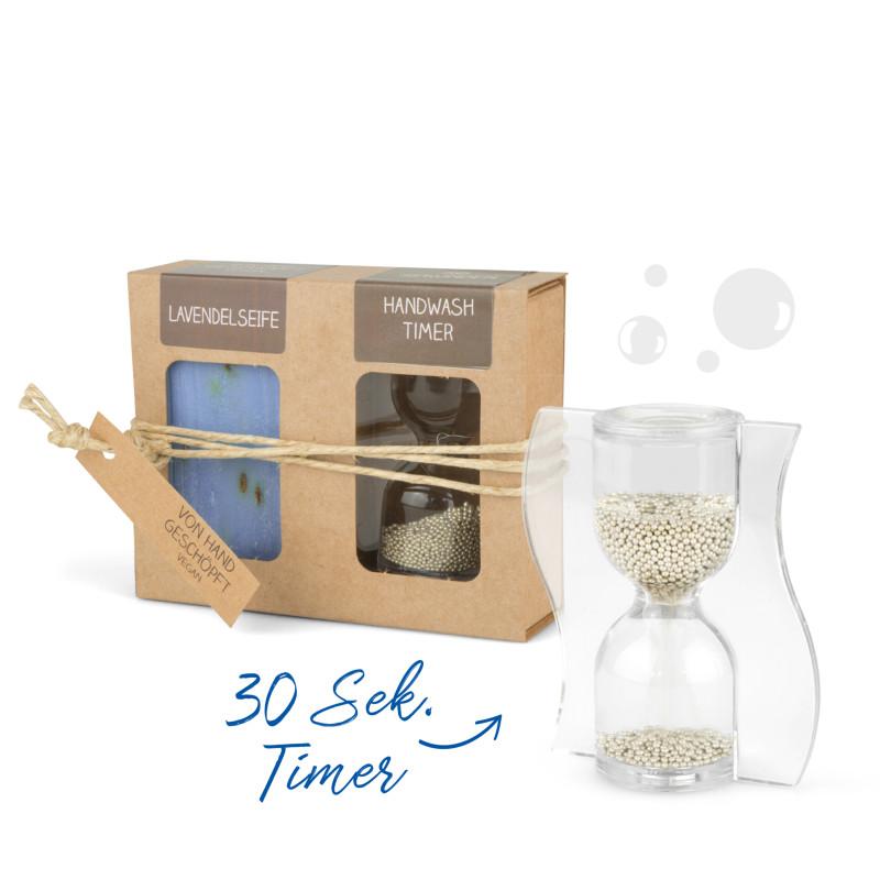 Geschenkkarton mit 100g Seife + Handwash Timer
