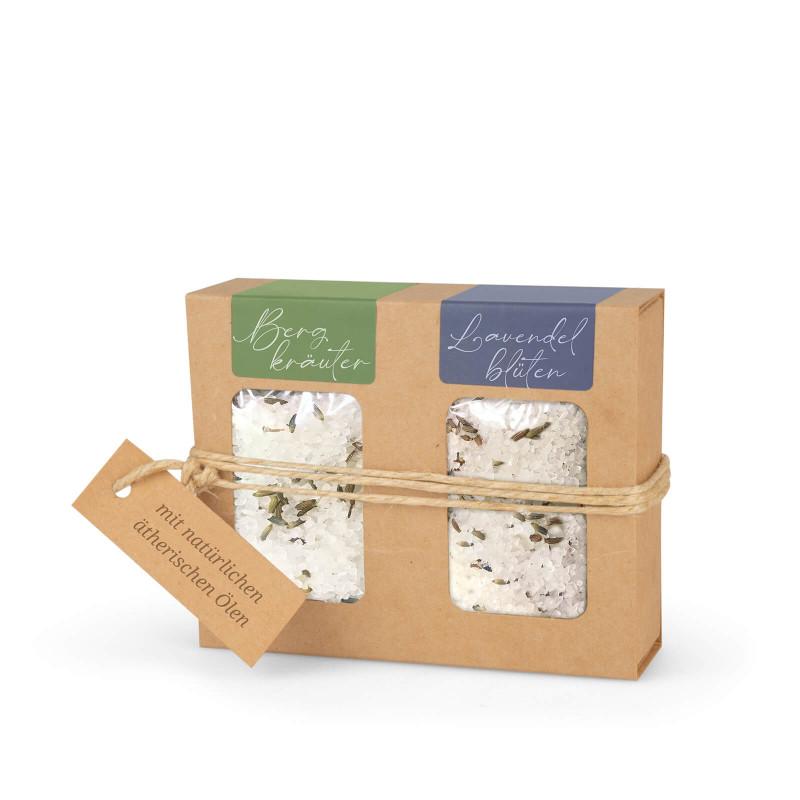 Geschenkkarton mit Badesalz (2 x 100g)