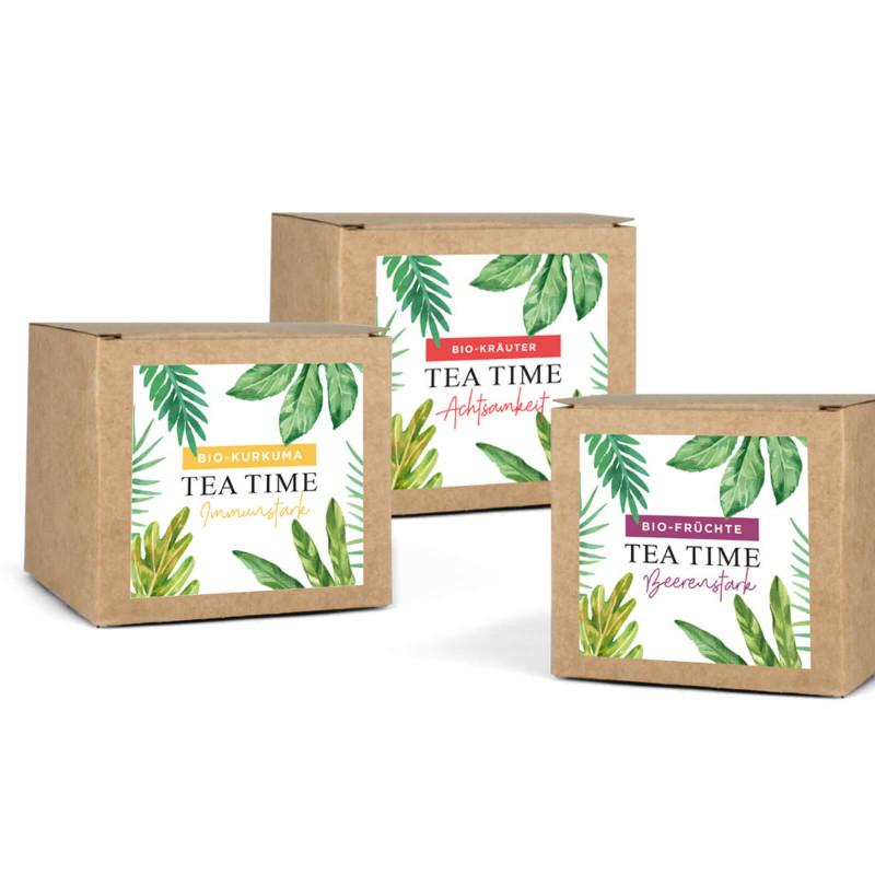 BIO-Tee-Sortiment (3 x 16 St.: Kurkuma, Kräuter, Früchte) DE-ÖKO-006