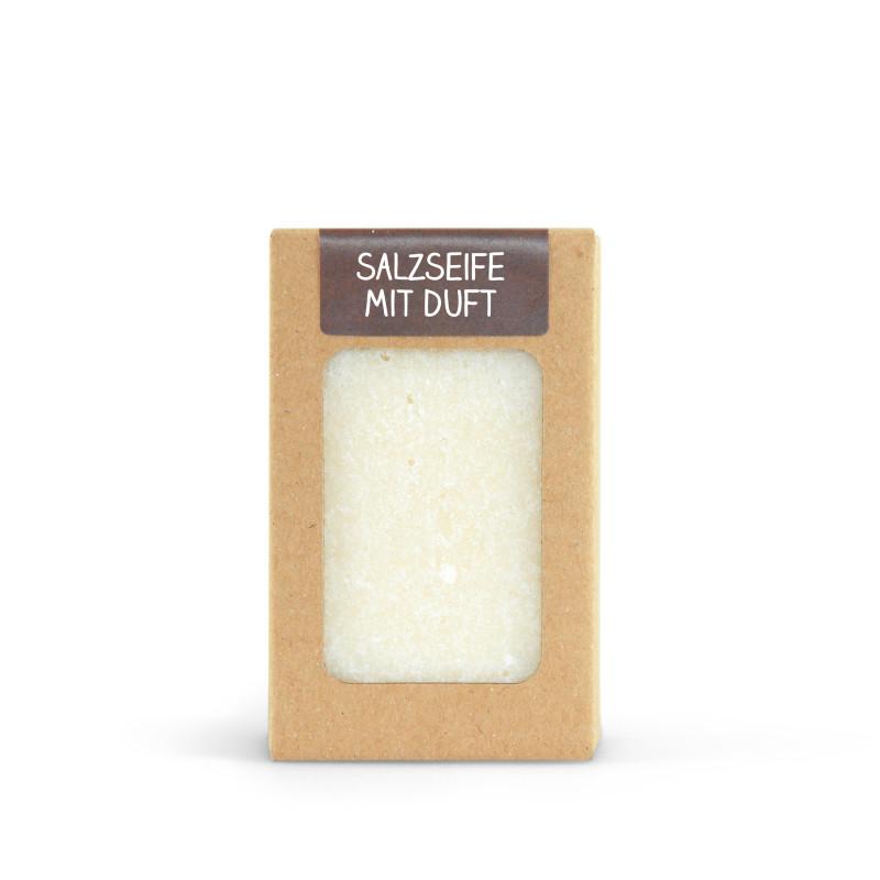Salzseife mit Duft 100g handgeschöpft
