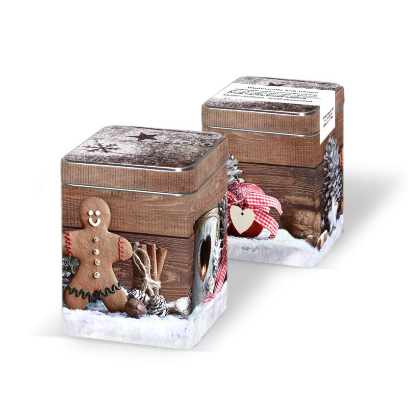 Minitin-Weihnachtsdose ohne Inhalt