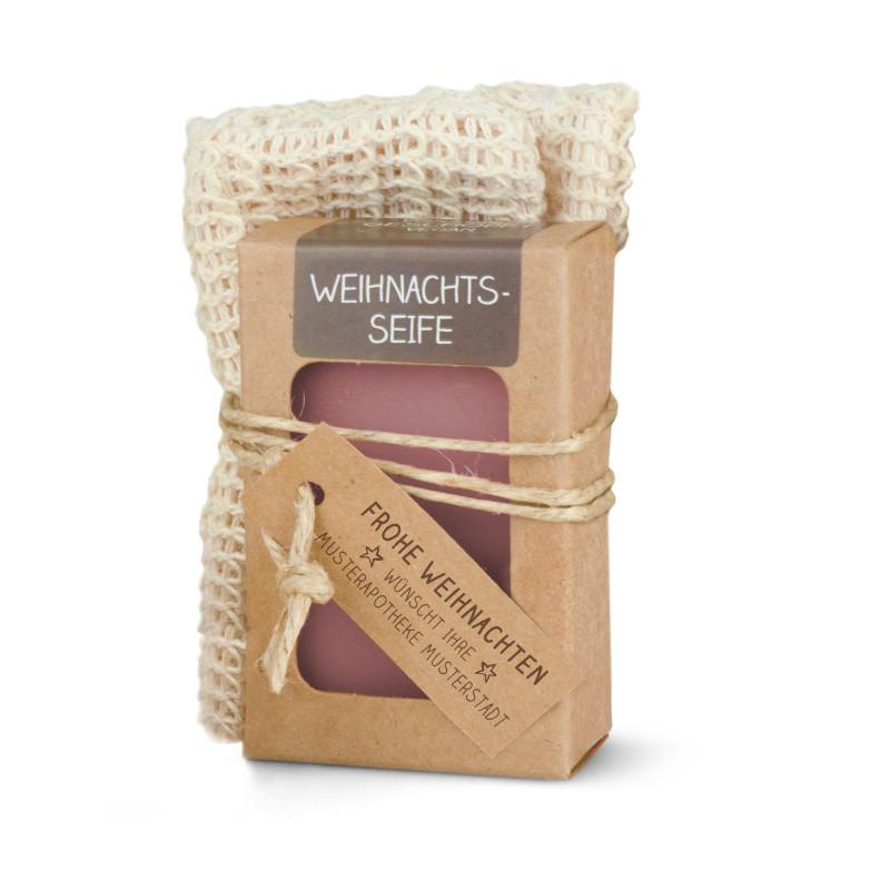 Geschenkset mit 100g Seife + Seifensäckchen Sisal